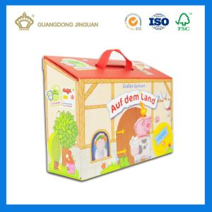 Lovely Kids Toy Pacakging House Shaped Handmade Gift Box (with window and handle) pictures & photos