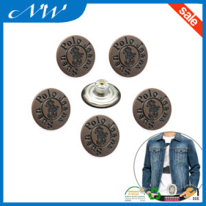 19mm a/Copper Color Metal Buttons Jeans Button pictures & photos