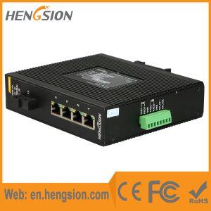 1 Fiber & 4 Port Rugged Industrial Ethernet Network Switch