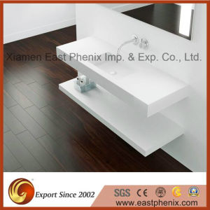 Natural Polished White Quartz Vanity for Bathroom/Kitchen pictures & photos