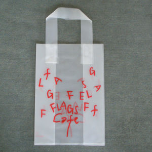 Custom Printed Frosted Shopping Bags with Soft Loop Handles pictures & photos