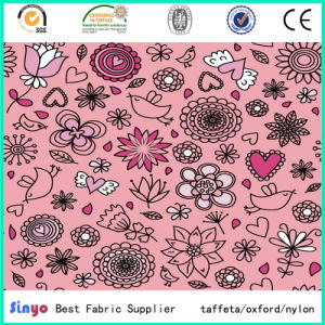 Multi-Color Polyester Textile Flower and Leaft Design Printing Fabric pictures & photos