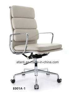 High Back Swivel Aluminium Office Eames Leather Pad Chair (E001A-1) pictures & photos