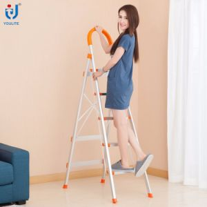 5 Step En131 Approved High Quality Household Foldable Aluminium Ladder pictures & photos
