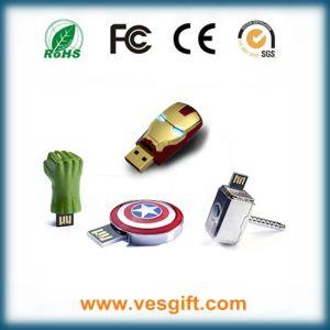Fashion Shape Iron Man Hulk Hand USB Drive Pendrive pictures & photos
