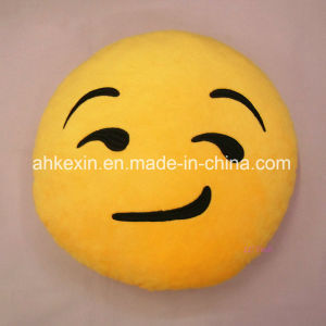 Yellow Soft Kids Emotion Plush Toy Emoji Pillow for Decoration pictures & photos