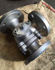 3-Way Valves L Type Dn100 Ball Valves Flanged Ends AISI304 pictures & photos