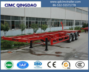 Cimc 3 Axle 40FT Platform / Flatbed Container Semi Trailer Truck Chassis pictures & photos