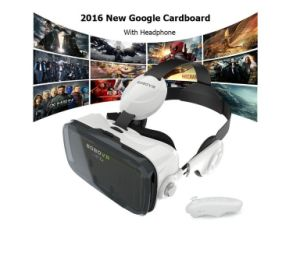 Google Cardboard Headmount Vr Box Wireless Bluetooth Remote Vr Virtual 3D Glasses pictures & photos