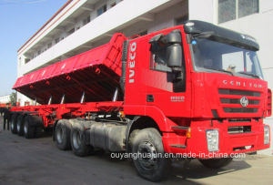 Platbed Side Tipper Semitrailer pictures & photos
