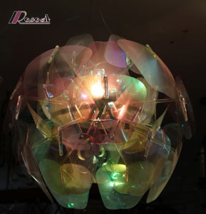 Colorful Ball Design PVC Shade Pendant Lamp for Hotel Project pictures & photos