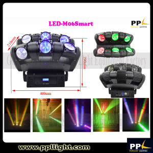 6X12W Infinite Rotating 6heads LED Beam Moving Head Light pictures & photos