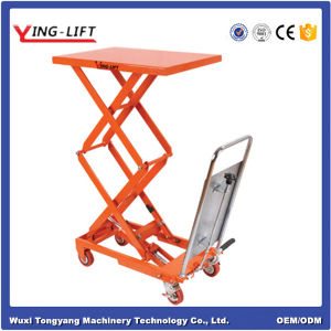 Economical Pedal Hydraulic Lift Table Truck pictures & photos