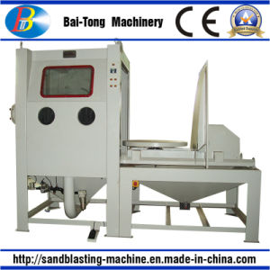 Manual Sandblasting Cabinet with Manual Trolley and Turntable for Mould pictures & photos