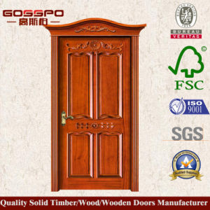Customerized Solid Wooden Door Single Carving Front Door (XS2-011) pictures & photos