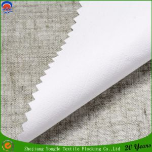 Woven Polyester Linen Coating Fr Blackout Curtain Fabric for Hotel with Factory Price pictures & photos