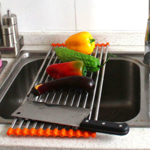 Dish Rack Silicone Roll up Dish Drying Rack pictures & photos