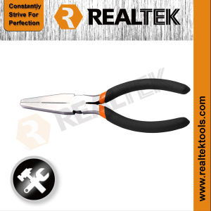 Professional American Type Flat Nose Pliers with Bi-Color Dipped Handles pictures & photos