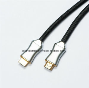 Metal Connector Flat HDMI Cable with Braid pictures & photos