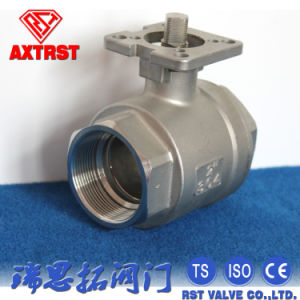 CF8m / CF8 2PC Type Screwed Ball Valve with Mounting Pad ISO5211 pictures & photos