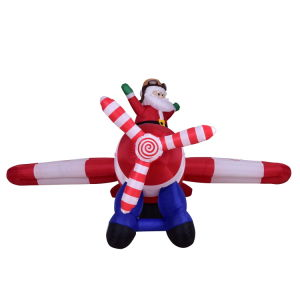 Fabric Inflatable Christmas Holiday Santa Claus with Air Plane Decoration pictures & photos