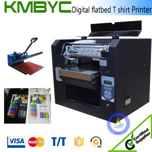 Flated Digital T Shirt Printing Machine DTG T Shirt Printer Sale pictures & photos