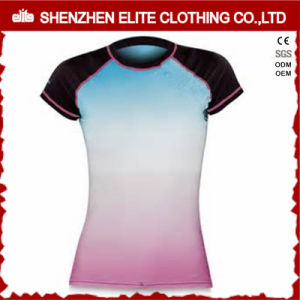 Women Sublimation Short Sleeve Rashguard (ELTRGI-46) pictures & photos