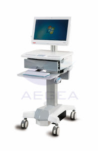 High Standard Movable Workstation Medication Computer Trolley Cart (AG-Wt006) pictures & photos