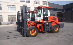 3500kg Rought Terrain Diesel Forklift Truck for Poor Road Condition pictures & photos