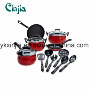 14-Piece Red Non-Stick Cookware Set - Home - Kitchen - Cookware - Cookware Sets pictures & photos