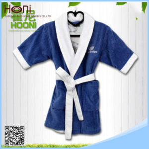 T-051 Luxury Terry Children Blue Bathrobe Pajama  Winter pictures & photos