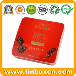 Square Metal Tin Chocolate Box with Airtight Lid, Food Container pictures & photos