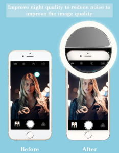 3A Battery Selfie Light, Fit for Any Phone LED Circle Selfie Ring Light for Taking Selfie pictures & photos