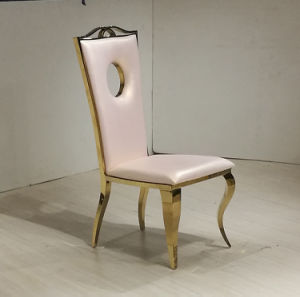 Party Chair Rose Gold Stainless Steel Dining Chair pictures & photos