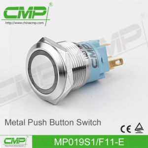 CMP 19mm Waterproof Light Push Button Switch with Power Symbol pictures & photos