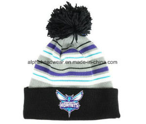Promotional POM POM Knit Beanie Hat pictures & photos