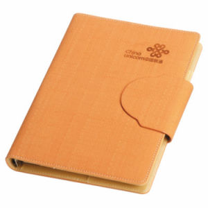 Hot Stamping Hardcover PU Leather Notebook Printing pictures & photos