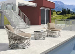 Customized Coffee Shop Patio Leisure Rattan Chair and Table pictures & photos