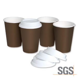 High Quality Brown Craft Paper Cup with Lid pictures & photos