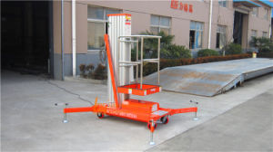 6m Aluminium Hydraulic Mast Aerial Work Lift Platform (GTWY6-100SB) pictures & photos