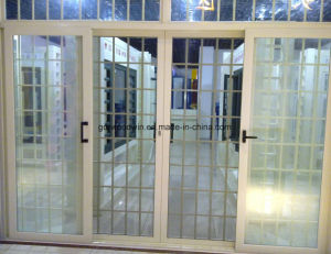 2017 Design Aluminum Double Glass Sliding Door pictures & photos