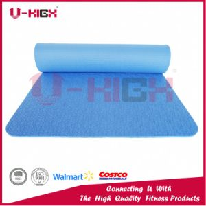 High Elastic EVA Yoga Mat Solid Color Pilates Exercise pictures & photos