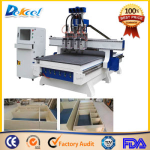 China CNC Atc 4 Process Wood Cutting Router Machine pictures & photos