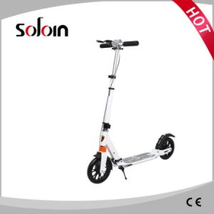 Ce Approved Adults Aluminum Alloy Kick Scooter with 200mm PU Wheel Customization (SZKS007) pictures & photos