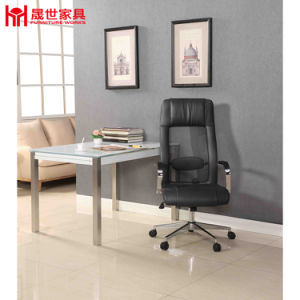 China Factory Hot Sale PU Leather Boss Chair with Armrest pictures & photos