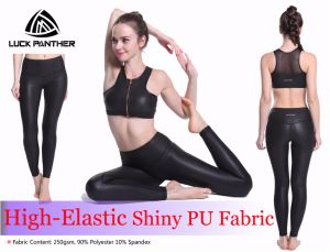New fashion Shinny Black Fitness Sports Bra with Zipper pictures & photos