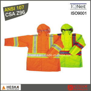 Wholesale High Visibility Waterproof Jacket with PU Coating Waterproof in 2000mm pictures & photos