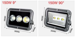 50W 100W 150W 200wled Flood Light 200W AC 220V 110V Waterproof IP66 Floodlight Spotlight Outdoor Lights Lamps 9/90 Degree pictures & photos