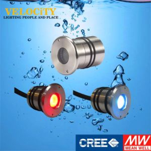 RoHS Approved High Brightness 1W Stainless Steel Underwater Lighting with Controller pictures & photos