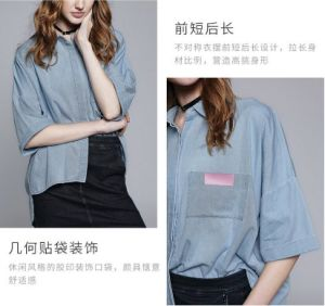Spring Fashion Plain 3/4 Sleeve Women′s Shirt pictures & photos